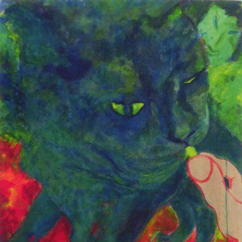 Katze mit gelben Augen 2009